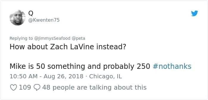 Chicago man suggesting Zach LaVine over Michael Jordan