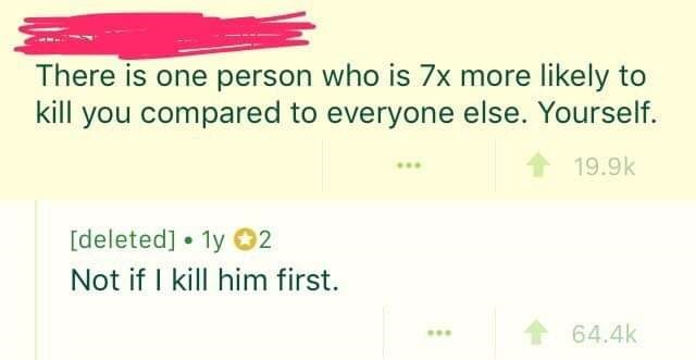 Reddit thread about suicide