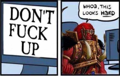 Warhammer 40k meme about Magnus fucking up