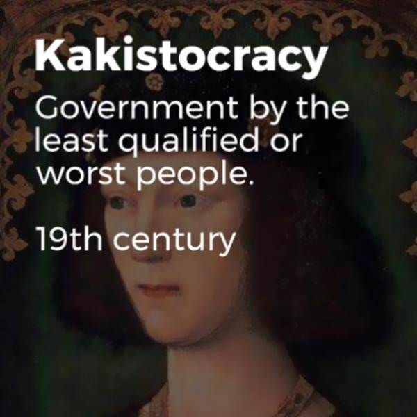Hair - Kakistocracy Government by the least qualified or worst people. 19th century