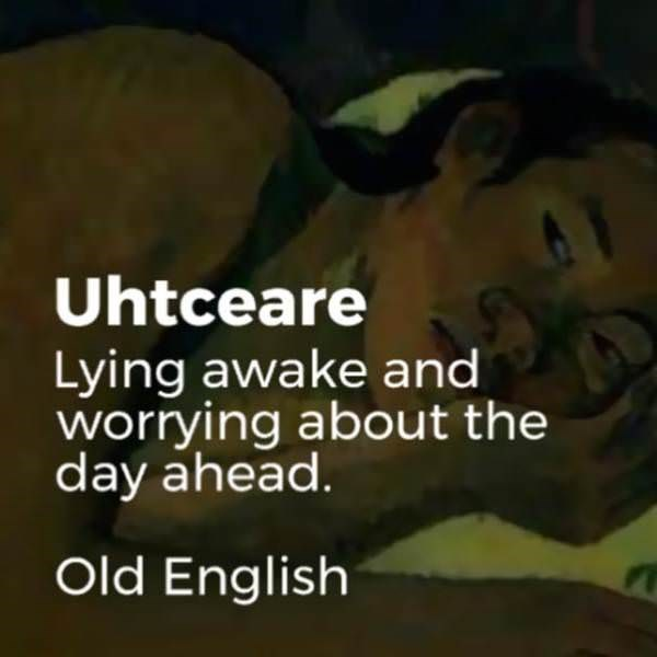 Text - Uhtceare Lying awake and worrying about the day ahead. Old English