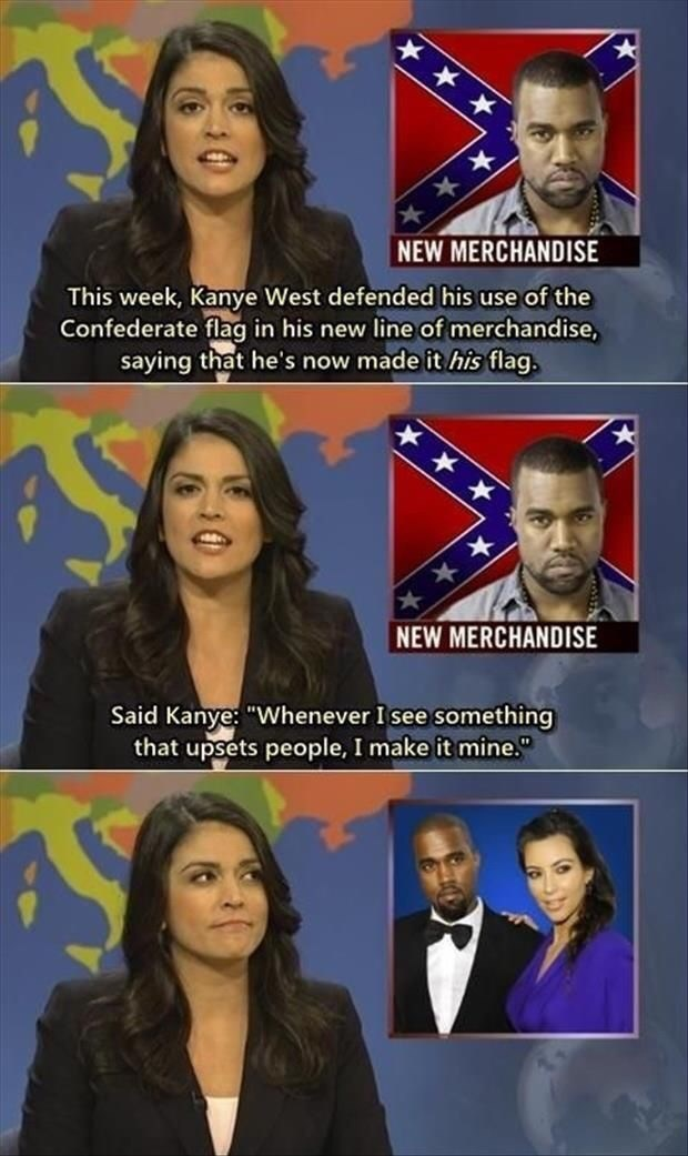 Cecily Strong about Kanye West marrying Kim Kardashian because he wants to annoy people