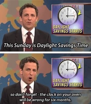 Seth Meyers joking about how people never adjust their over clocks