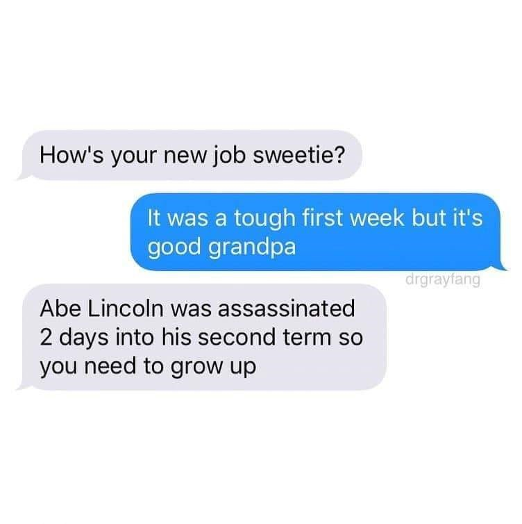 Encouraging text from grandpa