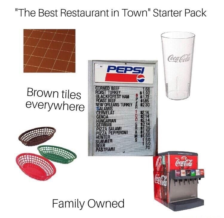 small town restaurant starter pack