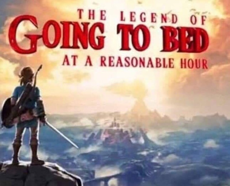 Legend of Zelda parody about never going to sleep on time