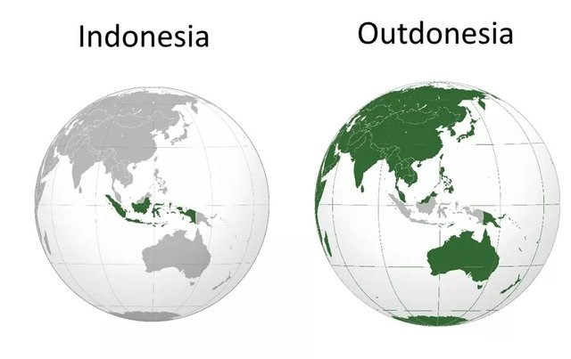 dumb but true - World map - Outdonesia Indonesia