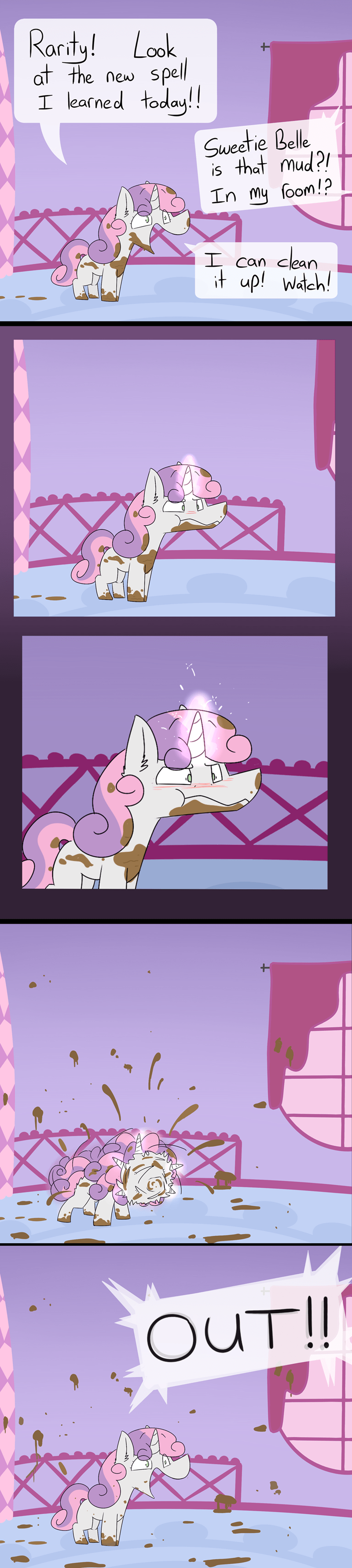 Sweetie Belle input command rarity comic acting like animals - 9257166592