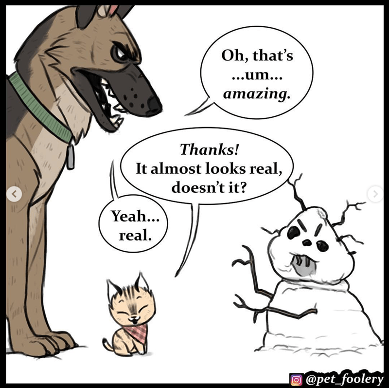 pixie brutus - Cartoon - Oh, that's ...um... атazing. Thanks! It almost looks real, doesn't it? Yeah... real. @pet_foolery