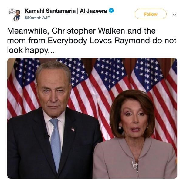 Tweet about who Chuck Schumer and Nancy Pelosi look like