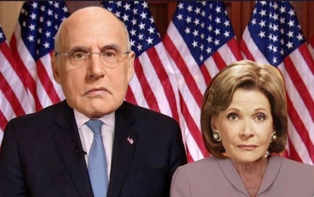 Chuck Schumer and Nancy Pelosi photoshopped as Oscar and Lucille from Arrested Development