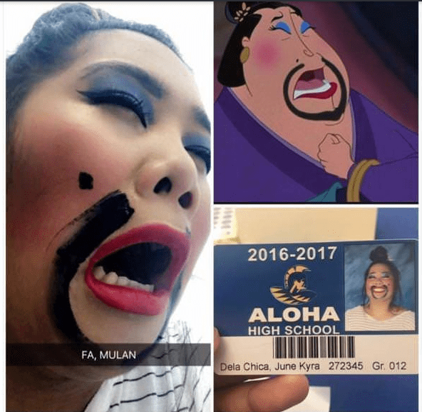 Face - 2016-2017 ALOHA HIGH SCHOOL FA, MULAN Dela Chica, June Kyra 272345 Gr. 012