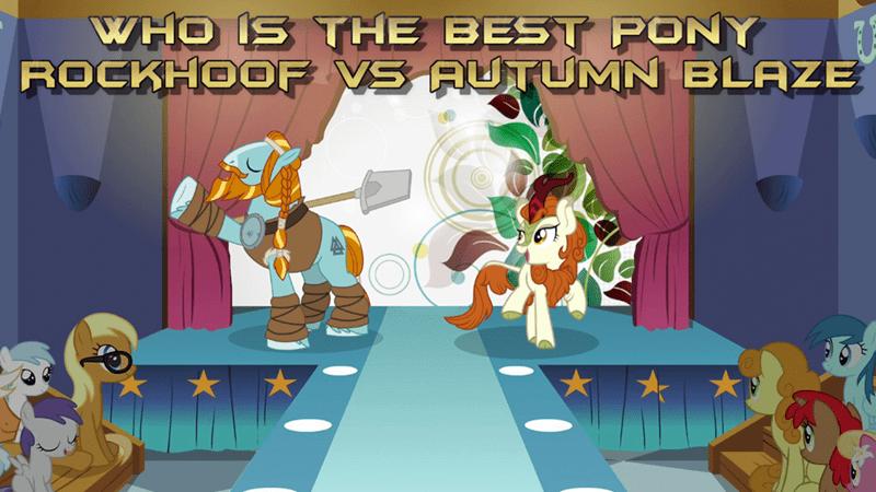 rockhoof autumn blaze best pony - 9257613312
