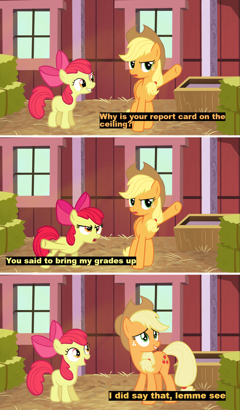 applejack incorrect my little pony quotes apple bloom screencap puns comic - 9257671936