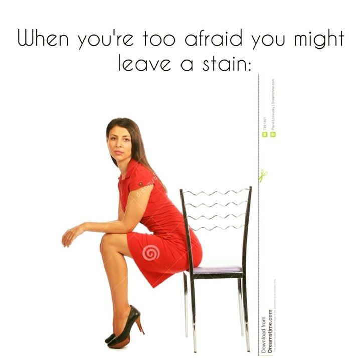 Sitting - When you're too afraid you might leave a stain: dreamst Download from Dreamstime.com