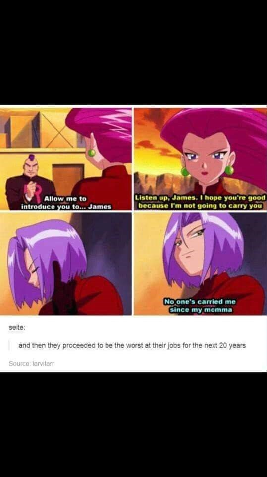 meme about the dramatic scene Jessie met James and how they proceeded to be a joke after that