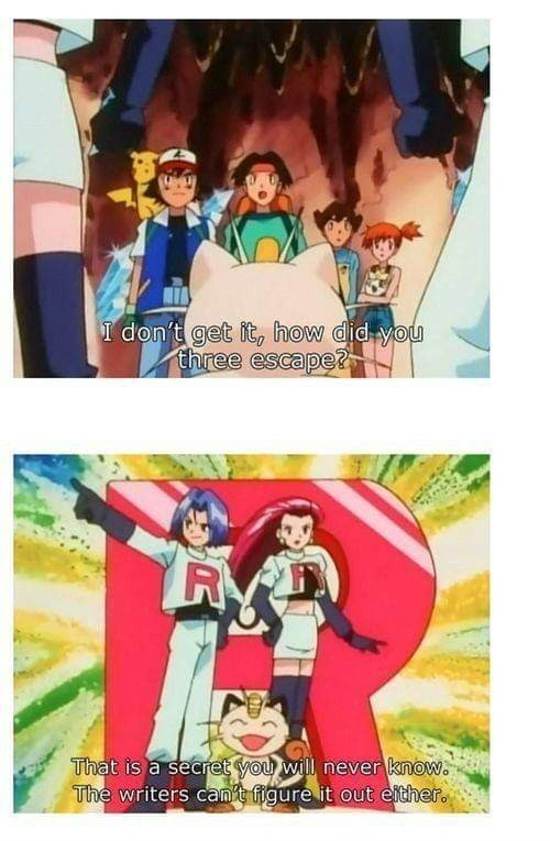 meme about the Pokemon anime being self aware