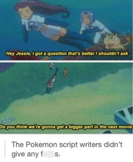meme about the Pokemon movie being self aware