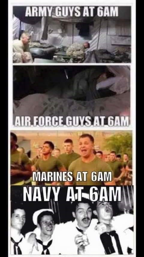 navy meme - Poster - ARMY GUYS AT 6AM AIR FORCE GUYS ATGAM MARINES AT GAM NAVY AT 6AM