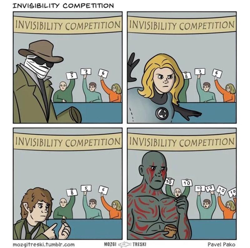 Comics - INVISIBILITY COMPETITION |INVISIBILITY COMPETITION||INVISIBILITY COMPETITION |INVISIBILITY COMPETITION|INVISIBILITY COMPETITION 10 10 10 OPENR Pavel Pako TRESKI MOZGI mozgitreski.tumblr.com