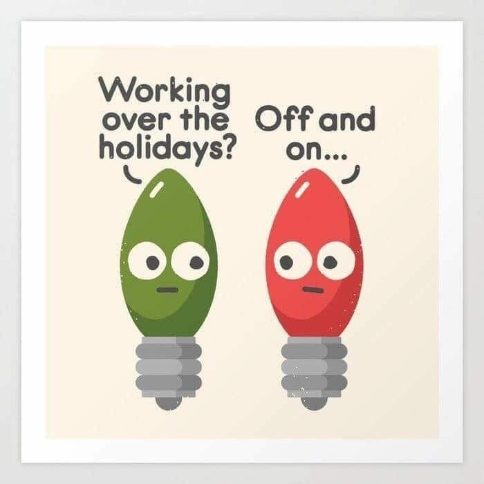 Text - Working over the Off and holidays? on...
