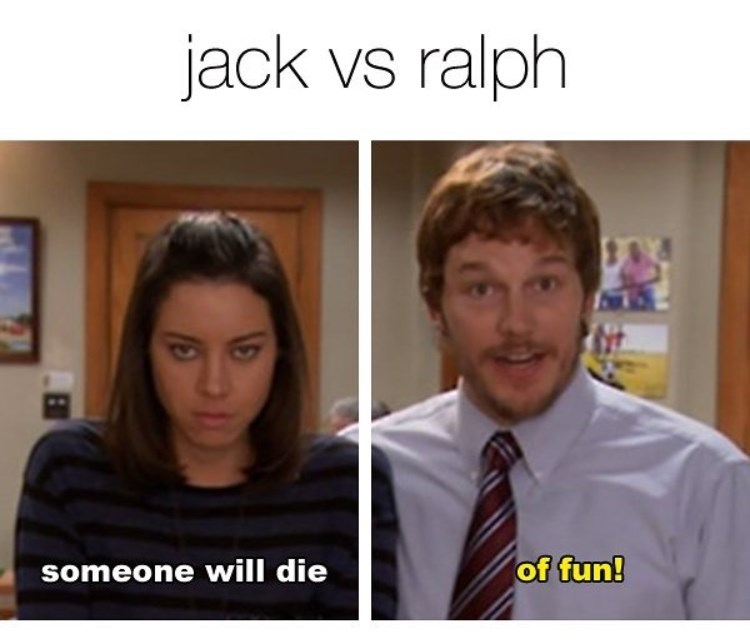 Facial expression - jack vs ralph of fun! someone will die