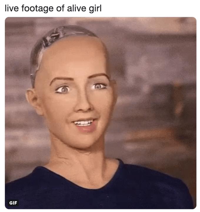 jeff bezos meme - Face - live footage of alive girl GIF