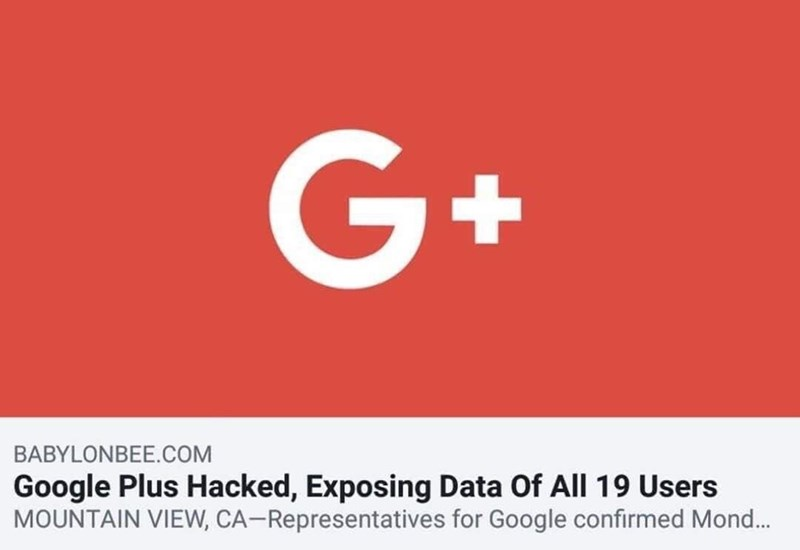 headline about Google Plus getting hacked