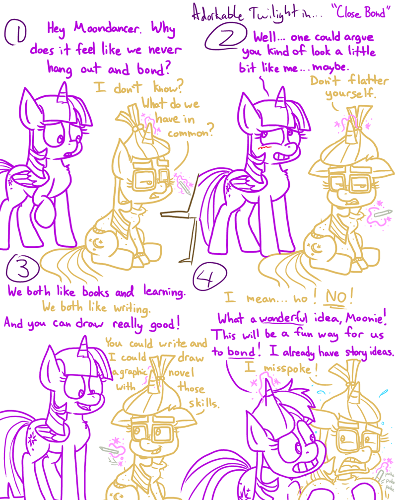 moon dancer twilight sparkle comic adorkable twilight and friends - 9258611456