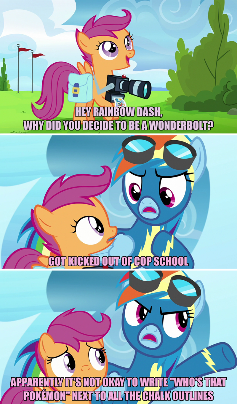 incorrect my little pony quotes parental glideance screencap comic Scootaloo rainbow dash - 9258780672
