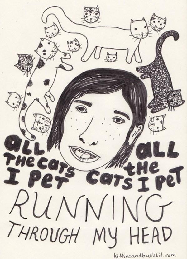 classic song cat - Text - aLL tHe CaTsI Pel THe CaTs I Pe RUNNING THROUGH MY HEAD kithiesandbullshit. com