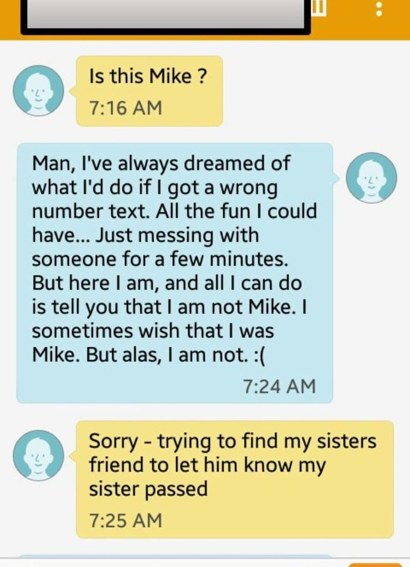 cringey wrong number text conversation