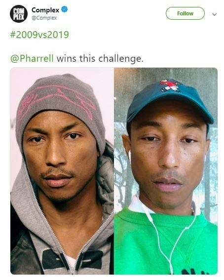 Then and now pics of Pharrell