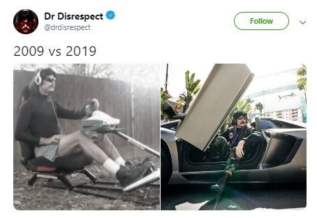 then and now pics of Dr Disrespect