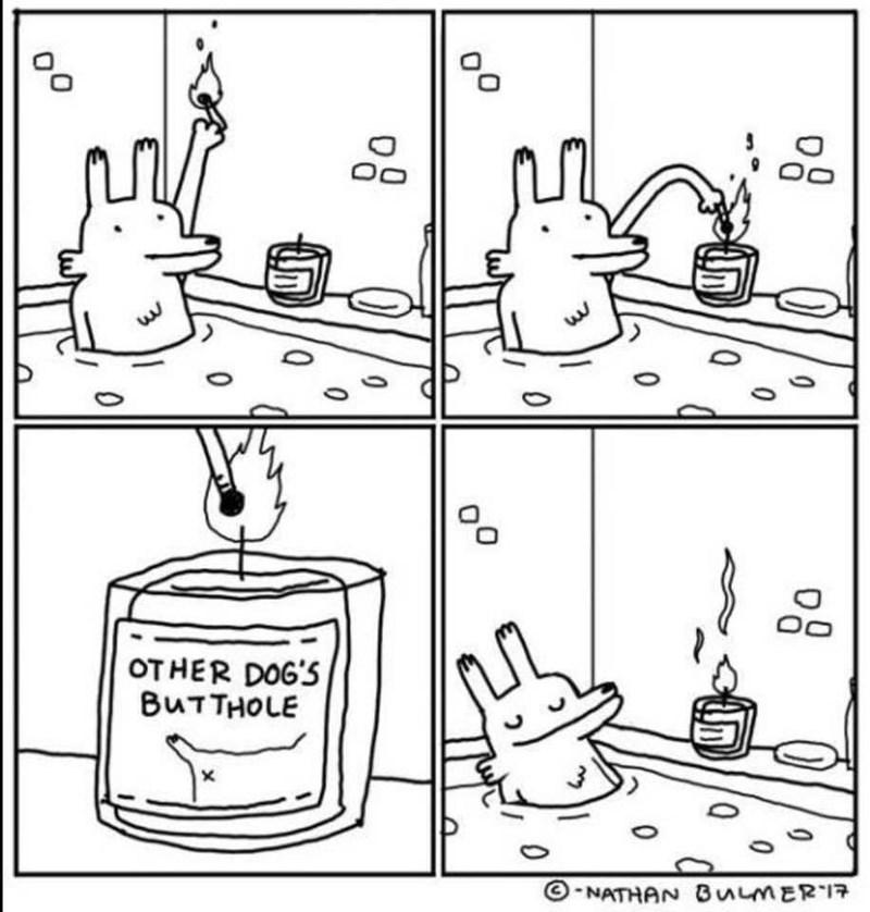 animal meme - Line art - OTHER DOG'S BUTTHOLE ONATHAN BuMER 0 0 0