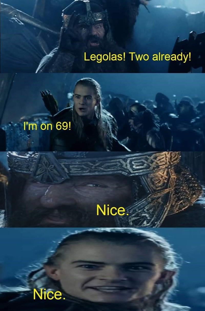 Movie - Legolas! Two already! I'm on 69! Nice Nice.
