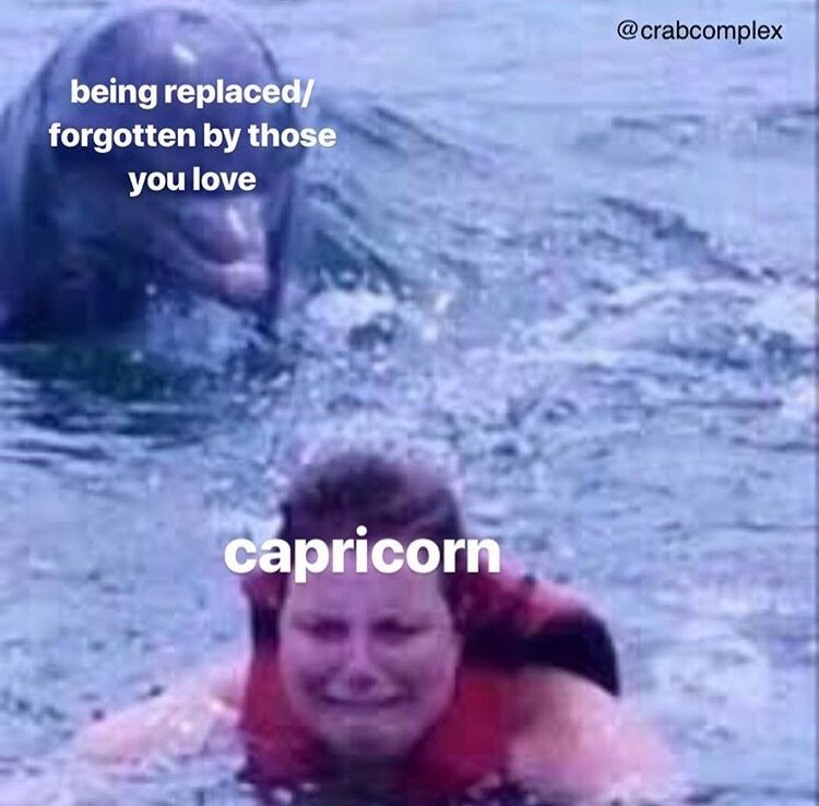 Water - @crabcomplex being replaced/ forgotten by those you love capricorn