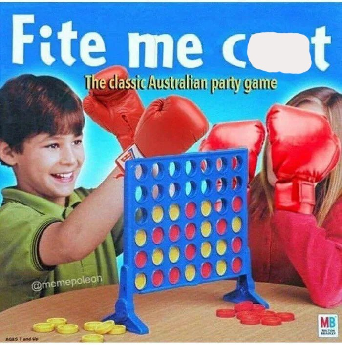 Play - Fite me c t The dassic Australian party game @memepoleon MB MSTON MADLE AGES 7 and Up