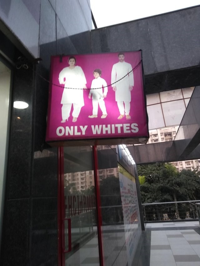 Display device - ONLY WHITES