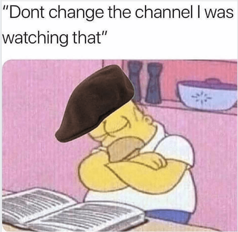 """Cartoon - """"Dont change the channel I was watching that"""""""