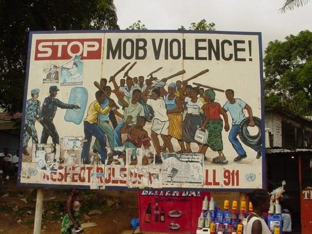 Poster - STOP MOB VIOLENCE! Tube ftberty Part ESPECT RJLE -LL 911 DEAAEIn AI TI