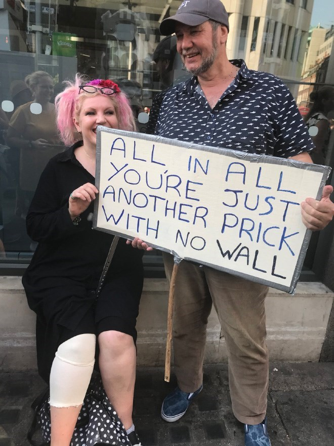 Protest - ALL IN A LL YOURE JUST ANOTHER PRICK WITH NO WALL