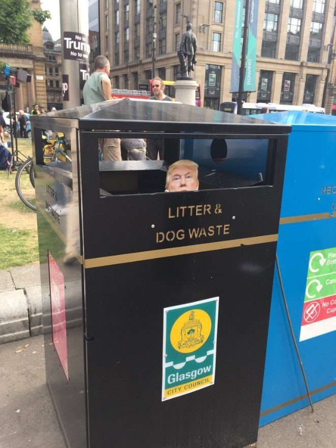Waste containment - Trum No No to LTR REC LITTER& DOG WASTE Plas Both Can No Ca Cup Glasgow CITY COUNCIL ONIMON EWSTE