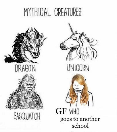 Line art - MYTHICAL CREATURES UNICORN DRAGON GF WHO SASQUATCH goes to another school