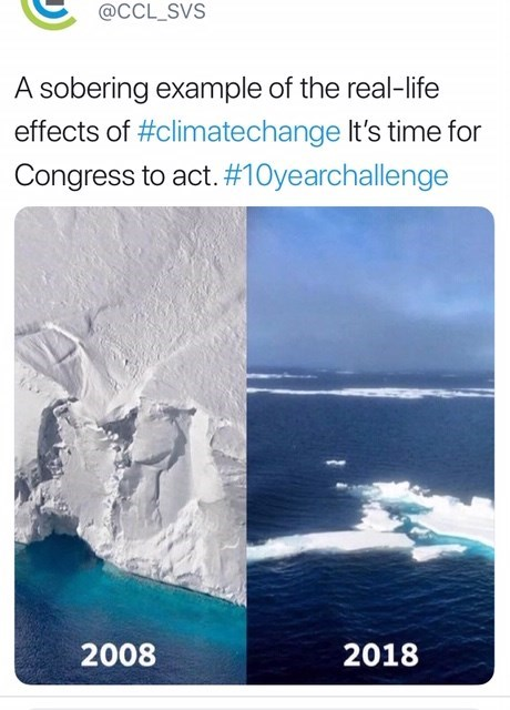 Text - @CCL_SVS A sobering example of the real-life effects of #climatechange It's time for Congress to act. #10yearchallenge 2008 2018