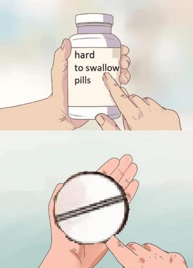 literal jokes - Skin - hard to swallow pills