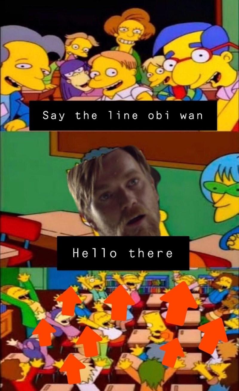 Animated cartoon - Say the line obi wan Hello there