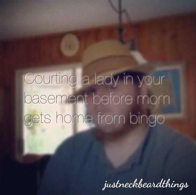 cringey neckbeard - Eyewear - Courting a leay in your basement before mom gets home from bingo justreckbeardthings