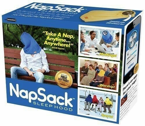 "Product - Nao Sack Serasoe Take A Nap, Anytime... Anywhere!"" Medings! REDVE as PUBLIC Worship! P NapSack SLEEPHOOD Spoptis! hareon pge"