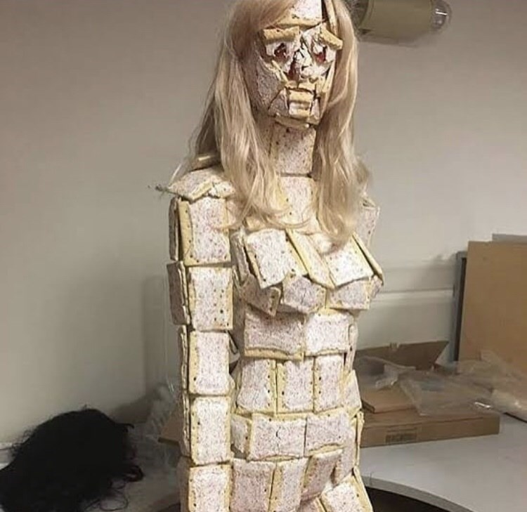 cursed image - Sculpture covered in poptarts